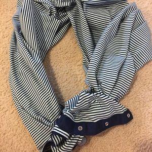 Teal and navy vinyasa scarf